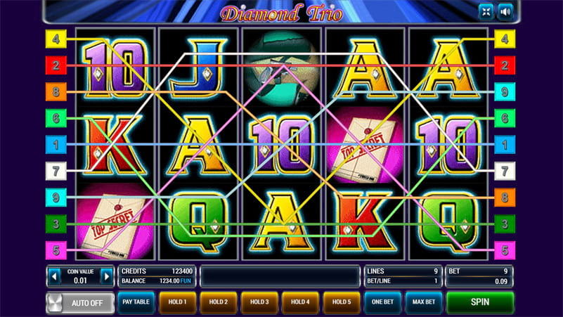 Изображение игрового автомата Diamond Trio 2