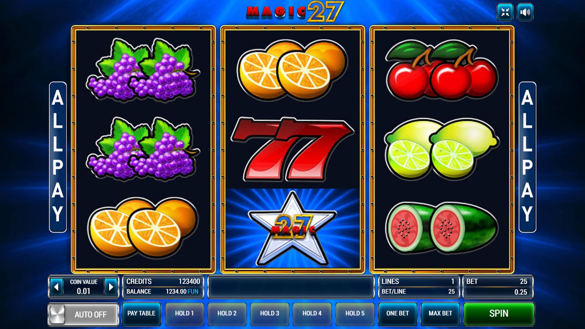 Изображение игрового автомата Magic 27 1