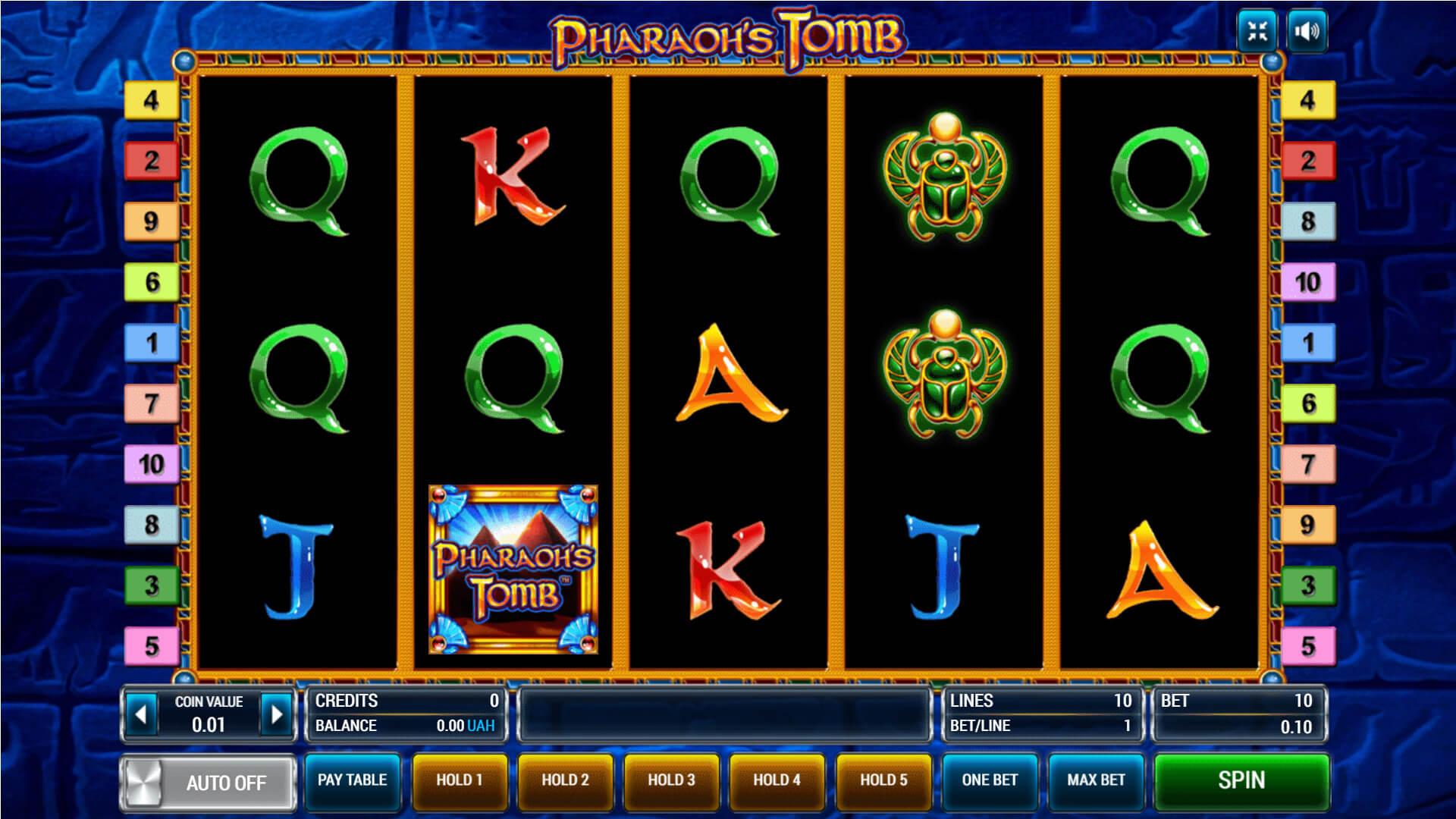 Изображение игрового автомата Pharaoh's Tomb 1