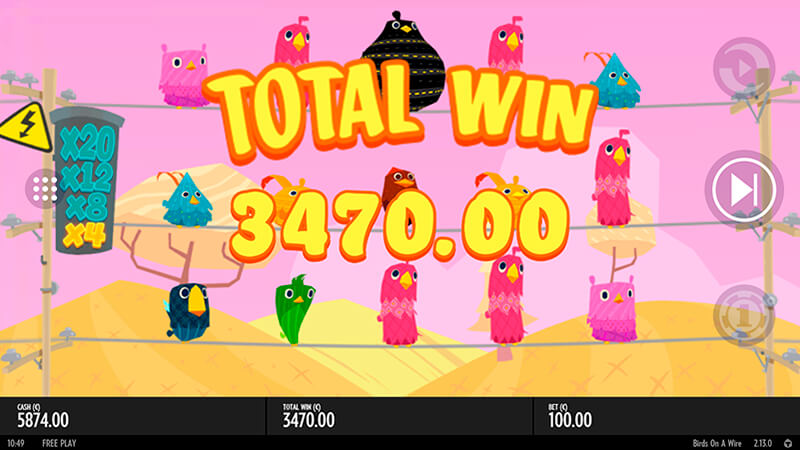 Изображение игрового автомата Birds On A Wire 2