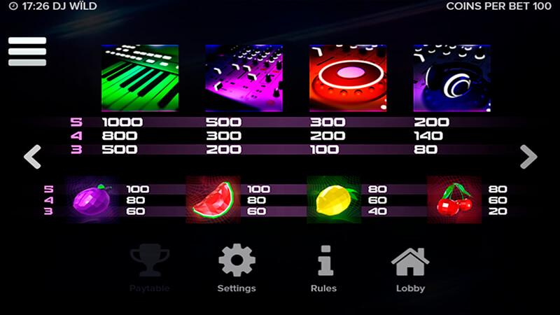 Изображение игрового автомата DJ Wild 3