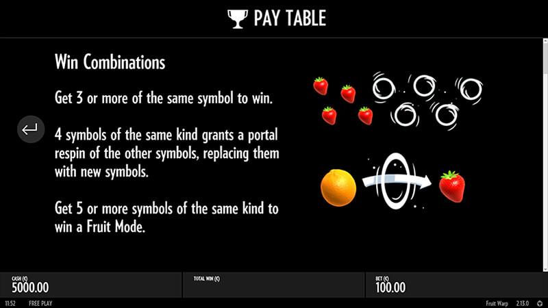 Изображение игрового автомата Fruit Warp 3