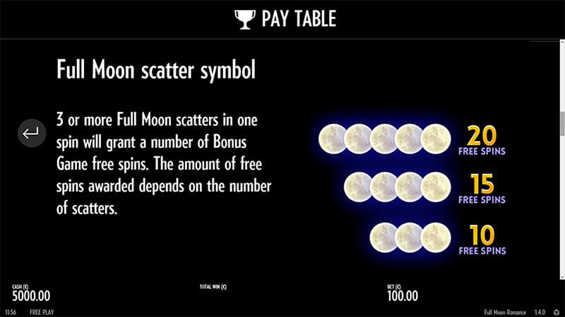 Изображение игрового автомата Full Moon Romance 3