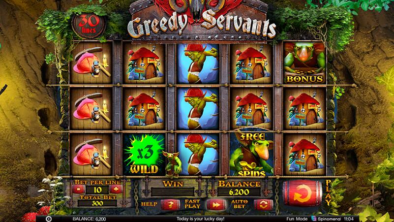 Изображение игрового автомата Greedy Servants 1