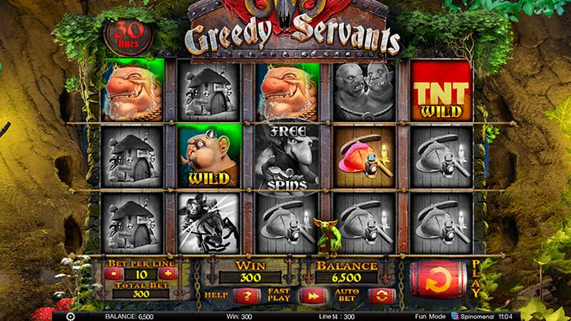 Изображение игрового автомата Greedy Servants 2
