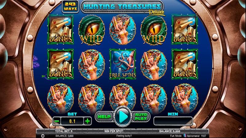 Изображение игрового автомата Hunting Treasures Deluxe 1