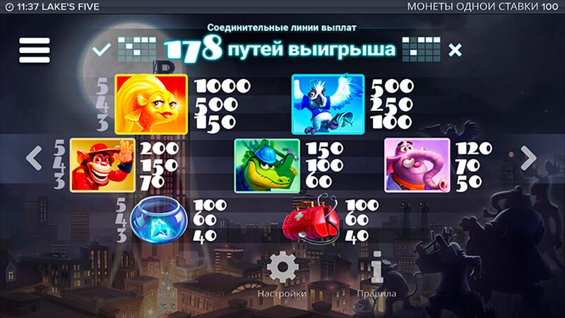 Изображение игрового автомата Lake's Five 3