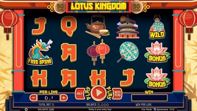 Изображение игрового автомата Lotus Kingdom 1