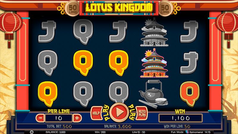 Изображение игрового автомата Lotus Kingdom 2