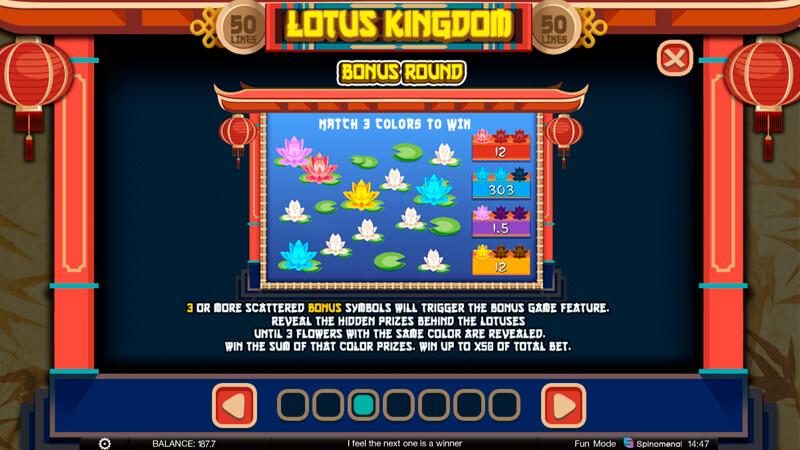 Изображение игрового автомата Lotus Kingdom 3