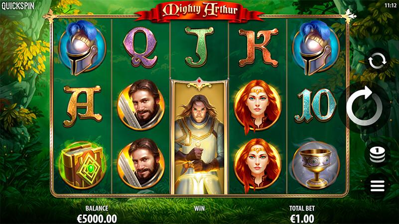 Изображение игрового автомата Mighty Arthur 1