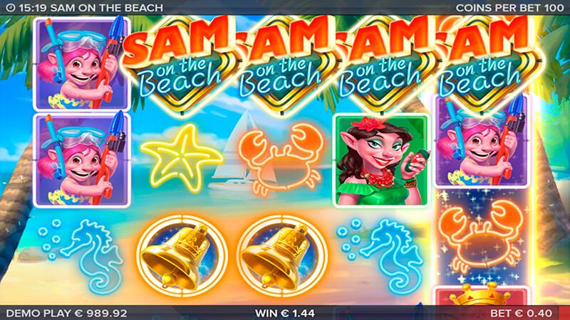 Изображение игрового автомата Sam on the Beach 2