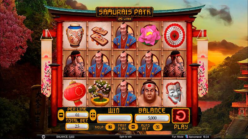 Изображение игрового автомата Samurai's Path 1