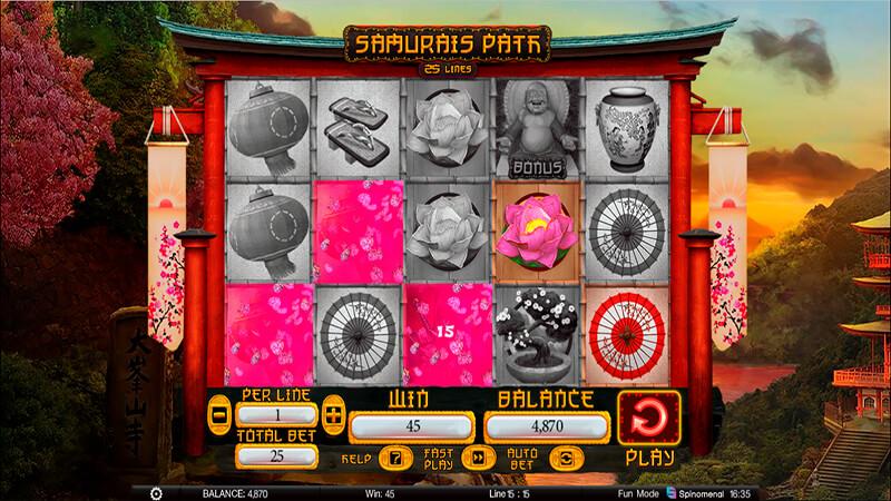 Изображение игрового автомата Samurai's Path 2