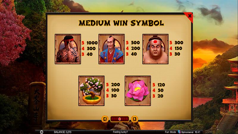 Изображение игрового автомата Samurai's Path 3