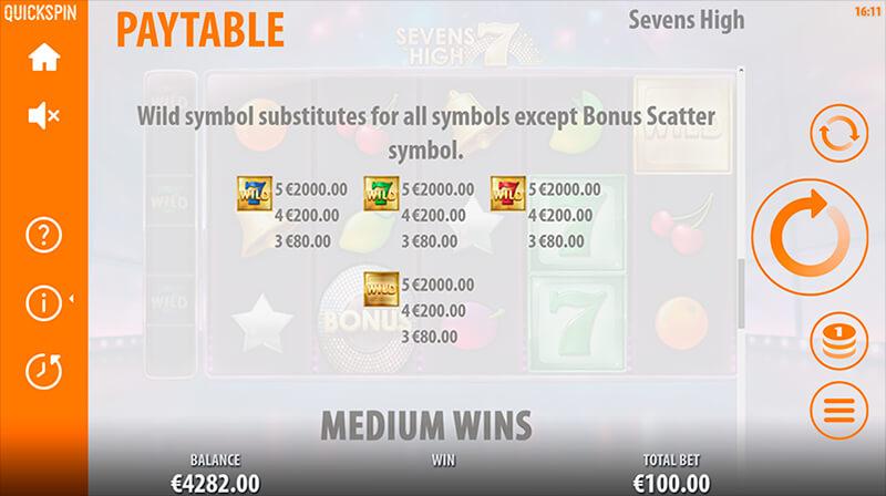 Изображение игрового автомата Sevens High 3