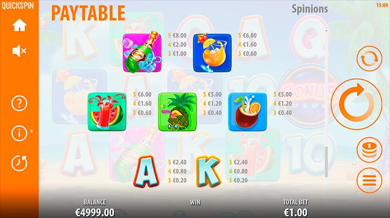 Изображение игрового автомата Spinions Beach Party 3