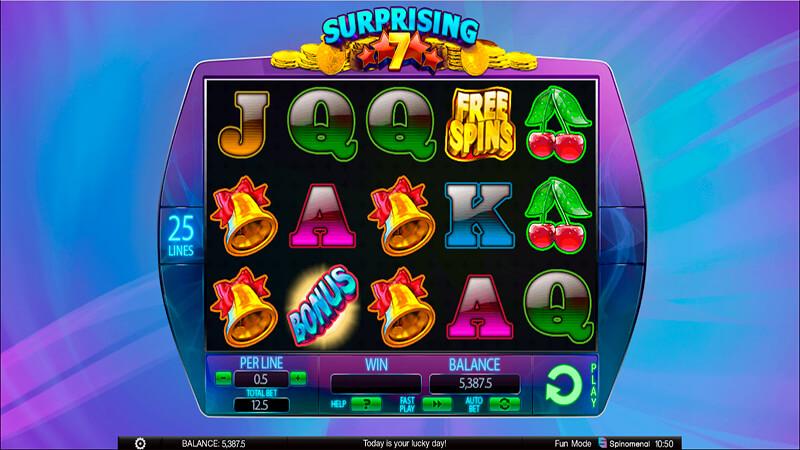 Изображение игрового автомата Surprising 7 2