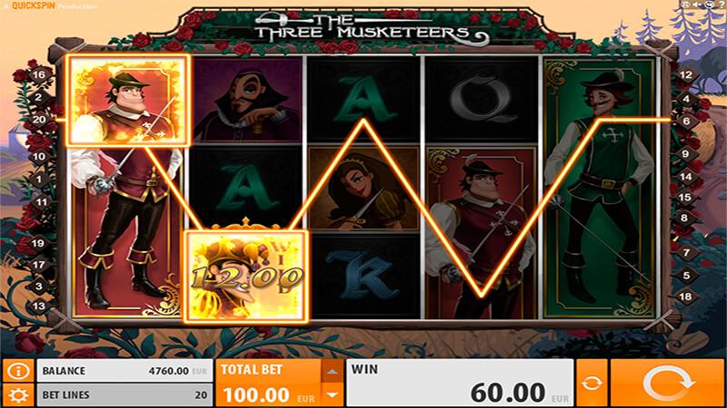 Изображение игрового автомата The Three Musketeers 2