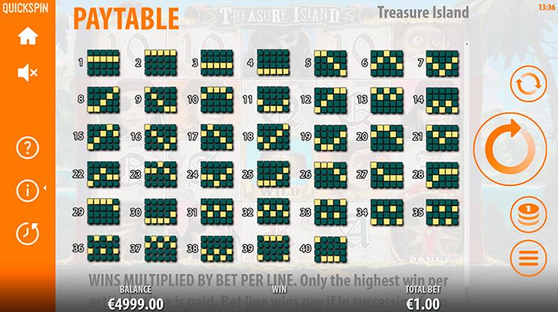 Изображение игрового автомата Treasure Island 5