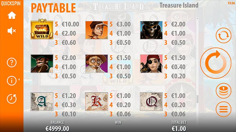 Изображение игрового автомата Treasure Island 4