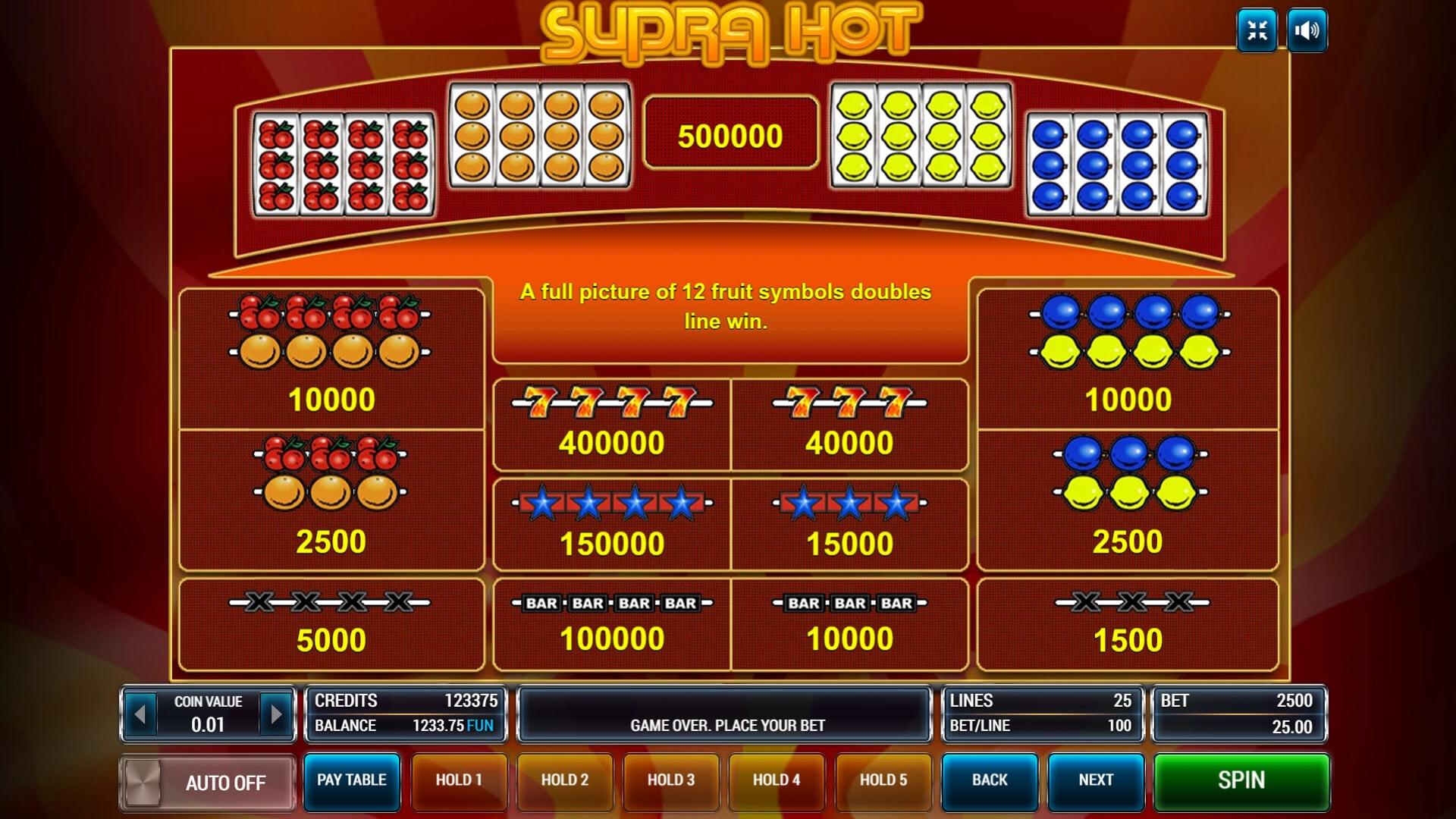 Изображение игрового автомата Supra Hot 3