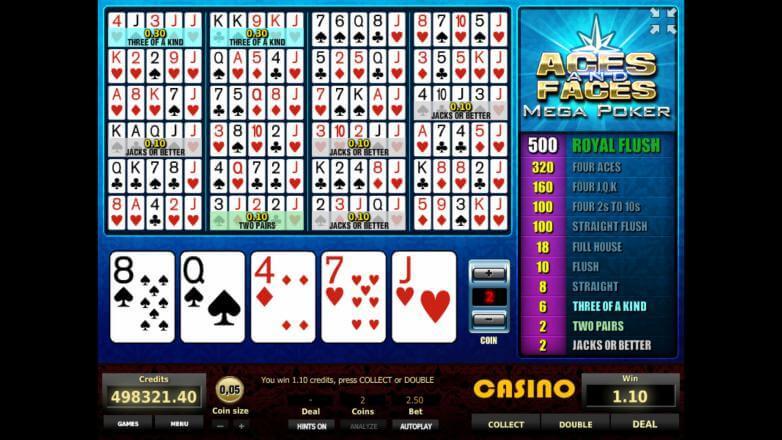 Изображение игрового автомата Aces and Faces Mega Poker 2