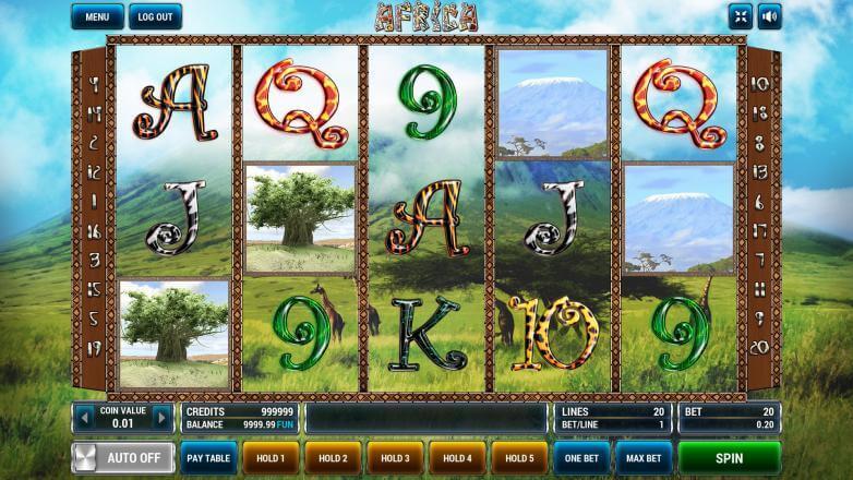 Изображение игрового автомата Afrika 2
