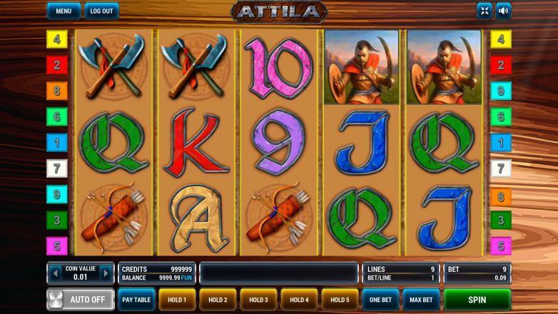 Изображение игрового автомата Attila 2