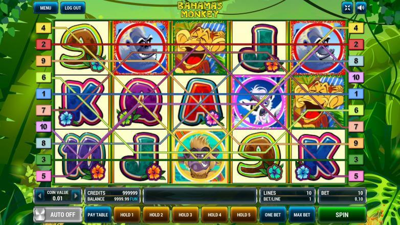 Изображение игрового автомата Bahamas Monkeys 1
