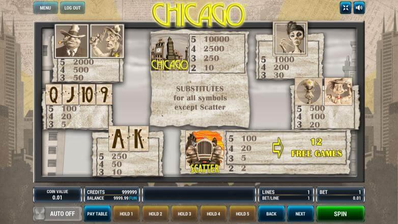Изображение игрового автомата Chicago 3