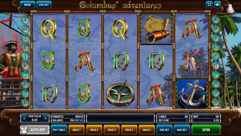 Изображение игрового автомата Columbus Adventures 2