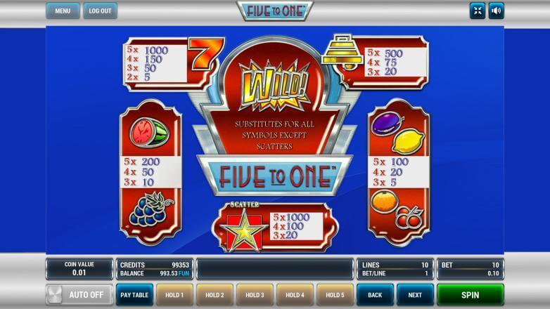 Изображение игрового автомата Five to One 3