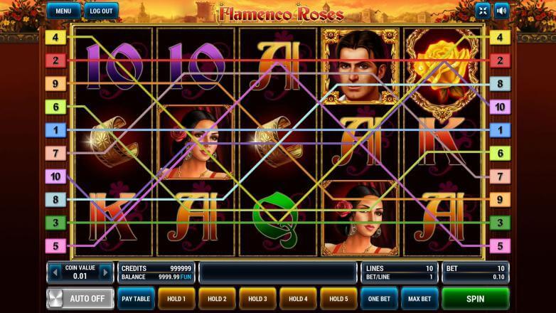 Изображение игрового автомата Flamenco Roses 1