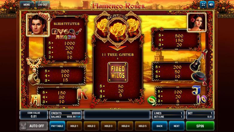Изображение игрового автомата Flamenco Roses 3