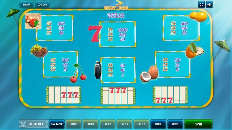 Изображение игрового автомата Fruit Bar 3