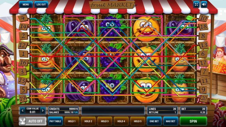 Изображение игрового автомата Fruit Market 1
