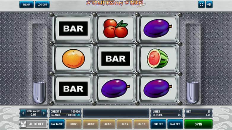 Изображение игрового автомата Fruits on Fire Deluxe 1