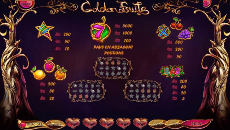 Изображение игрового автомата Golden Fruits 3