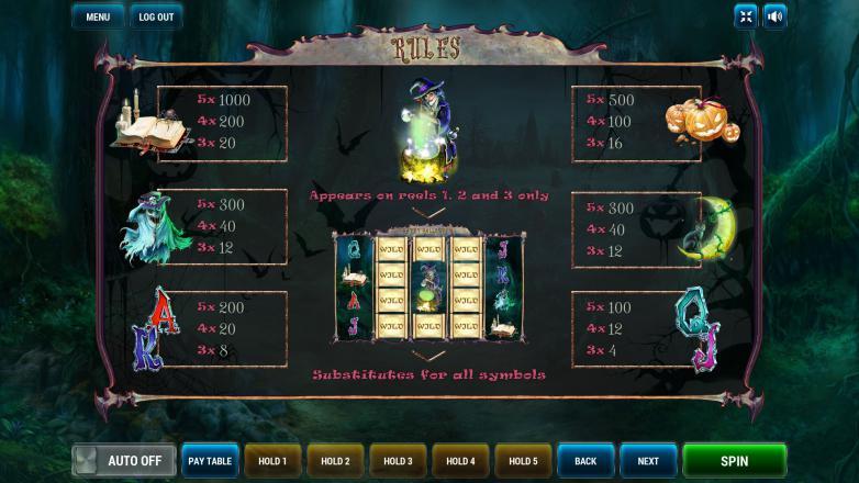 Изображение игрового автомата Halloween 3
