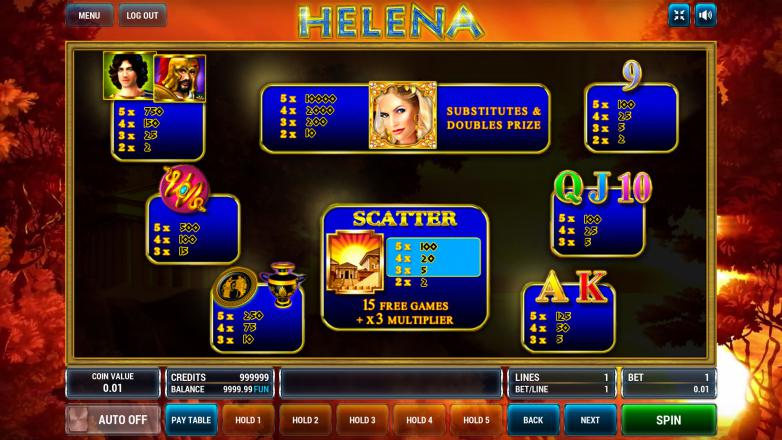 Изображение игрового автомата Helena 3