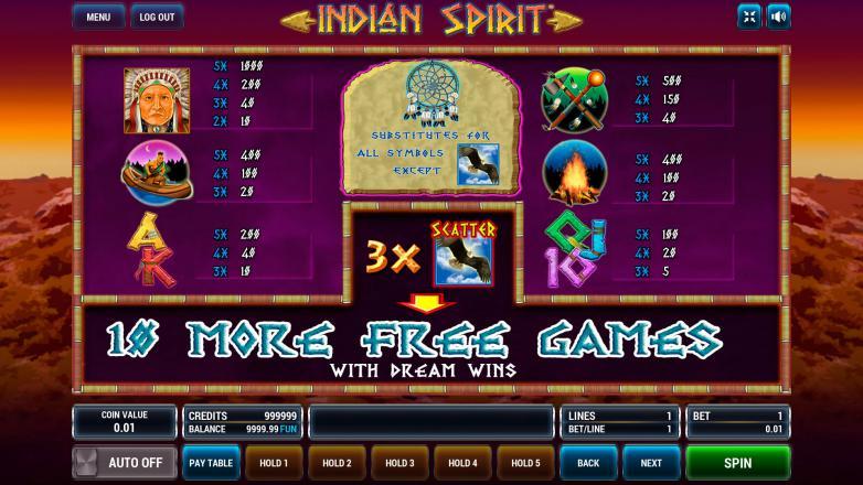 Изображение игрового автомата Indian Spirit 3