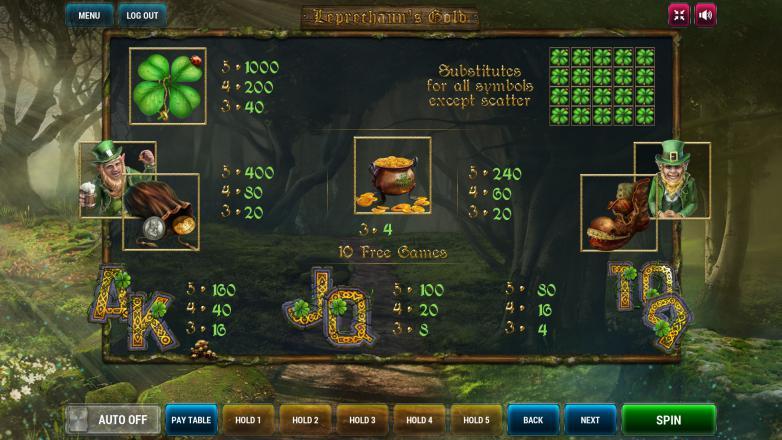 Изображение игрового автомата Leprechaun's Gold 3