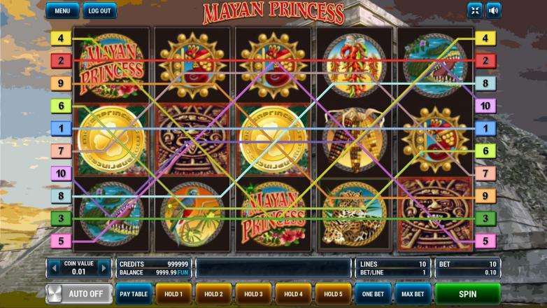 Изображение игрового автомата Mayan Princess 1