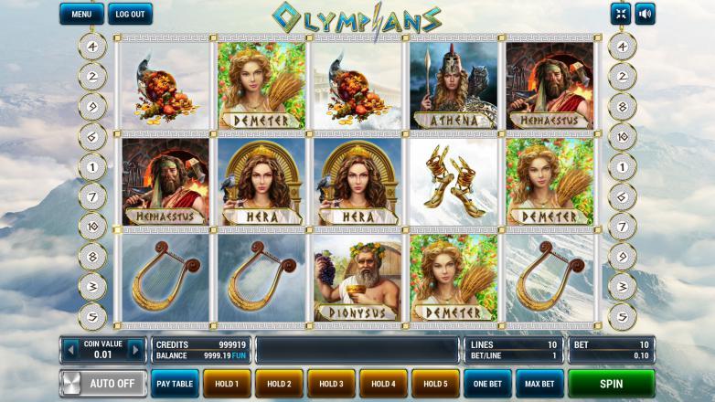 Изображение игрового автомата Olympians 2