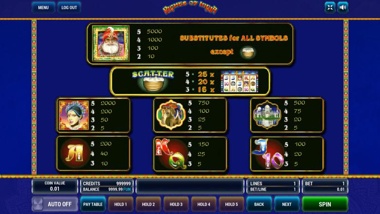 Изображение игрового автомата Riches of India 3