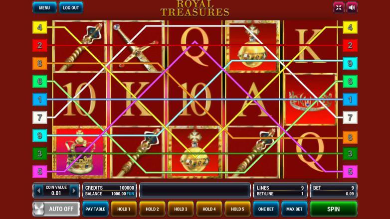 Изображение игрового автомата Royal Treasures 1
