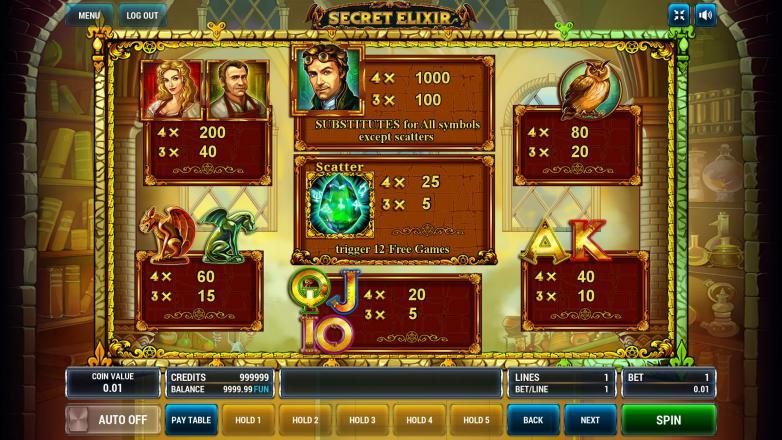 Изображение игрового автомата Secret Elixir 3