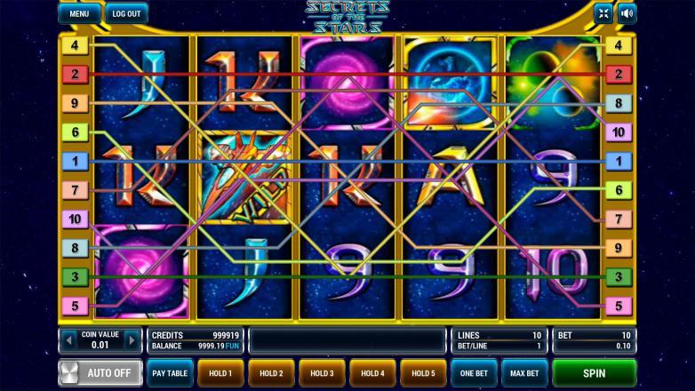 Изображение игрового автомата Secrets of the Stars 1