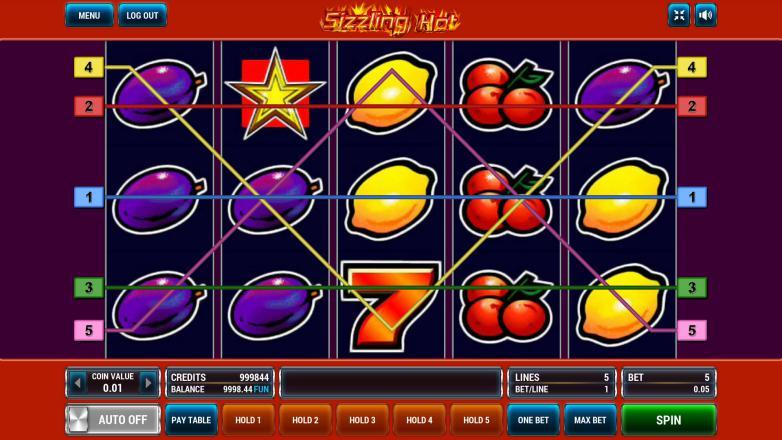 Изображение игрового автомата Sizzling Hot 1